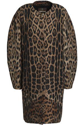 ROBERTO CAVALLI Leopard-print wool-blend coat
