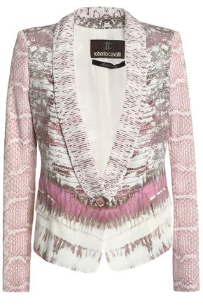 ROBERTO CAVALLI Printed silk-blend blazer
