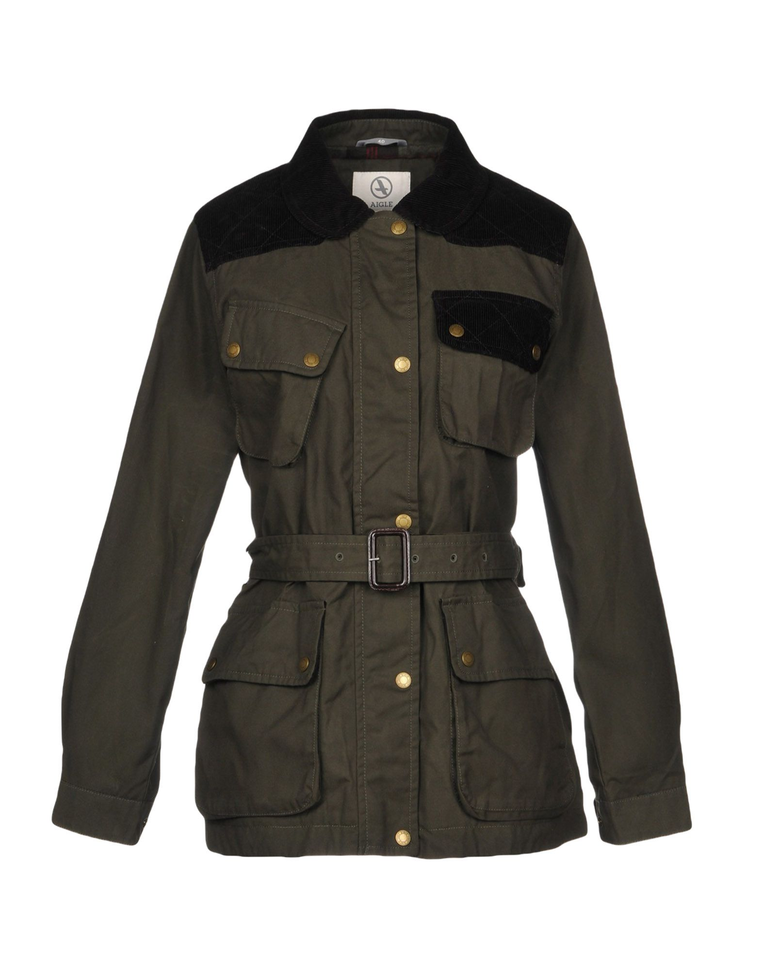 AIGLE Jackets in Military Green
