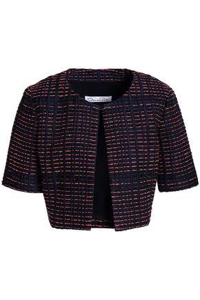 OSCAR DE LA RENTA Cropped silk-blend jacquard jacket