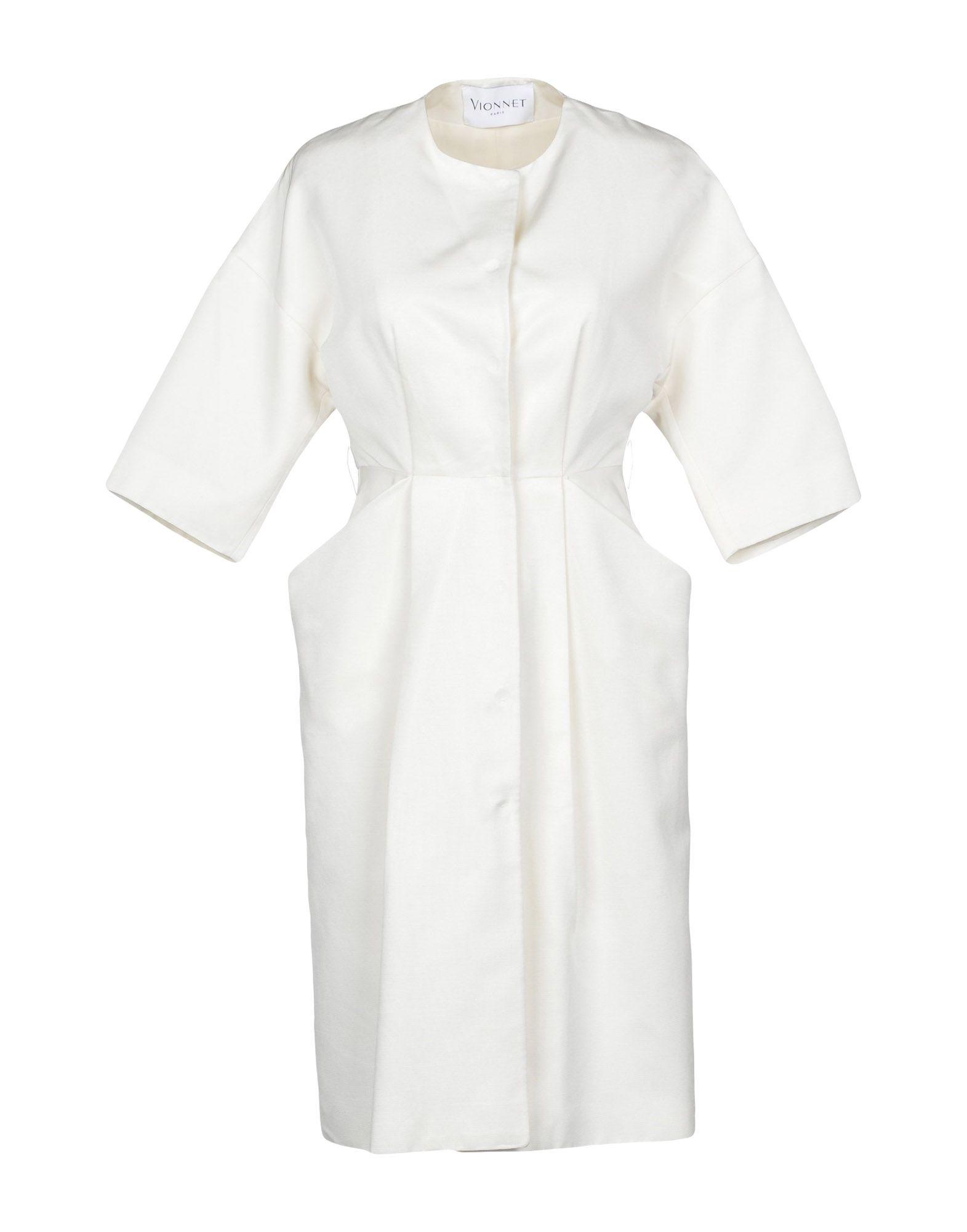 VIONNET Full-Length Jacket in White