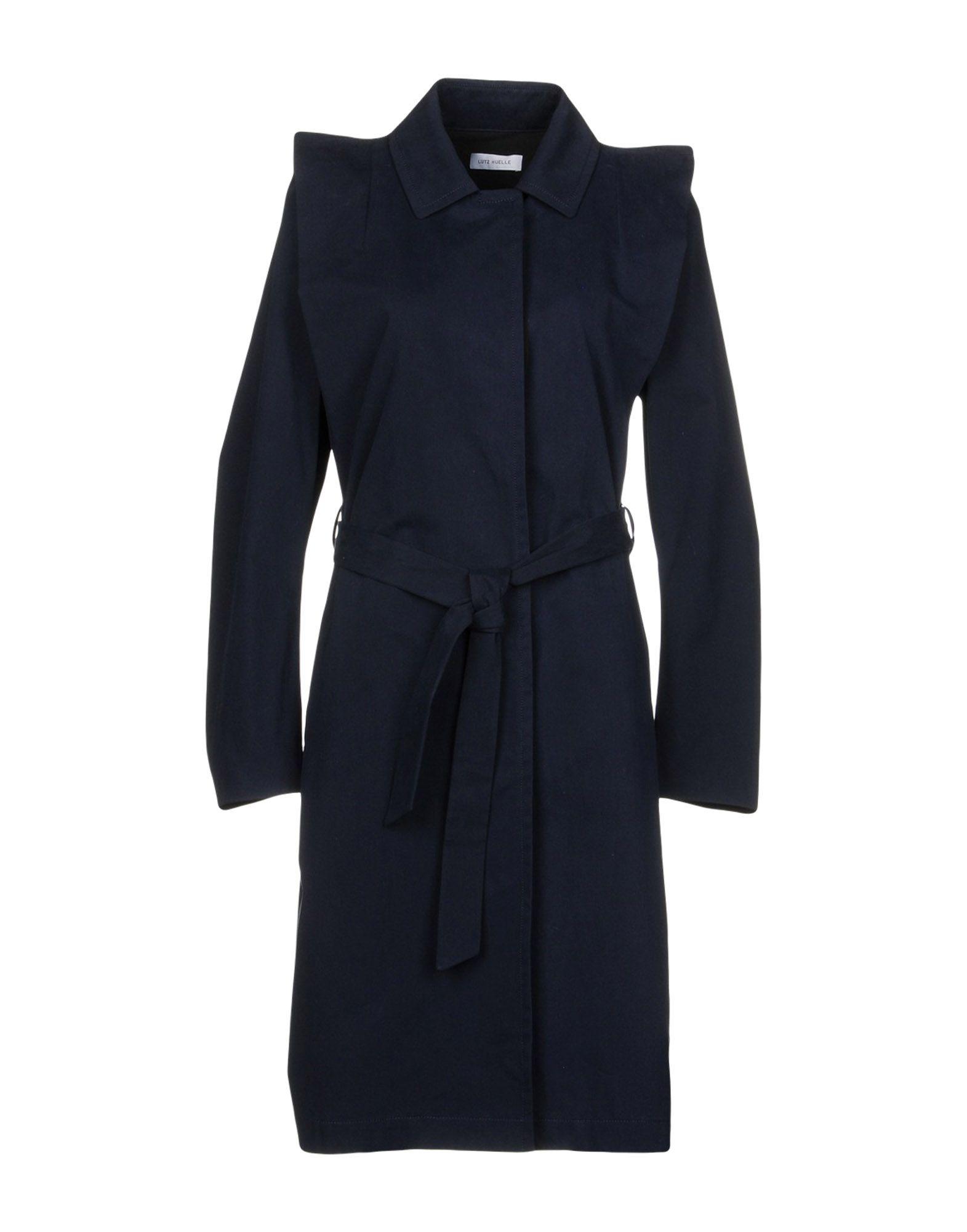 LUTZ HUELLE Full-Length Jacket in Dark Blue