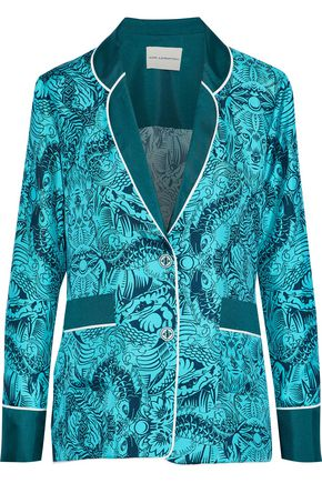 MARY KATRANTZOU Tarot printed silk-twill jacket