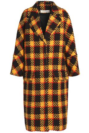 MARNI Checked bouclé wool and cotton-blend coat
