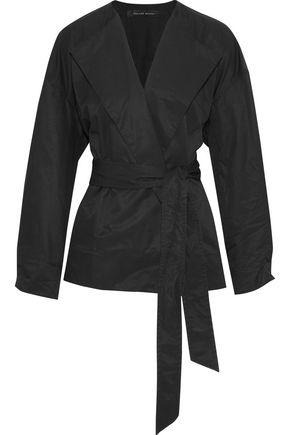 ROLAND MOURET Cotton-blend wrap jacket