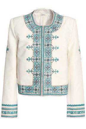 TALITHA Embroidered twill jacket