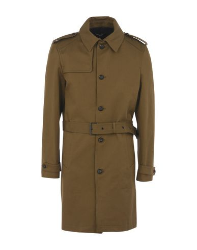 THE KOOPLES メンズ ライトコート ミリタリーグリーン 46 コットン 100% TRENCH COAT WITH OFFICER BUTTONS