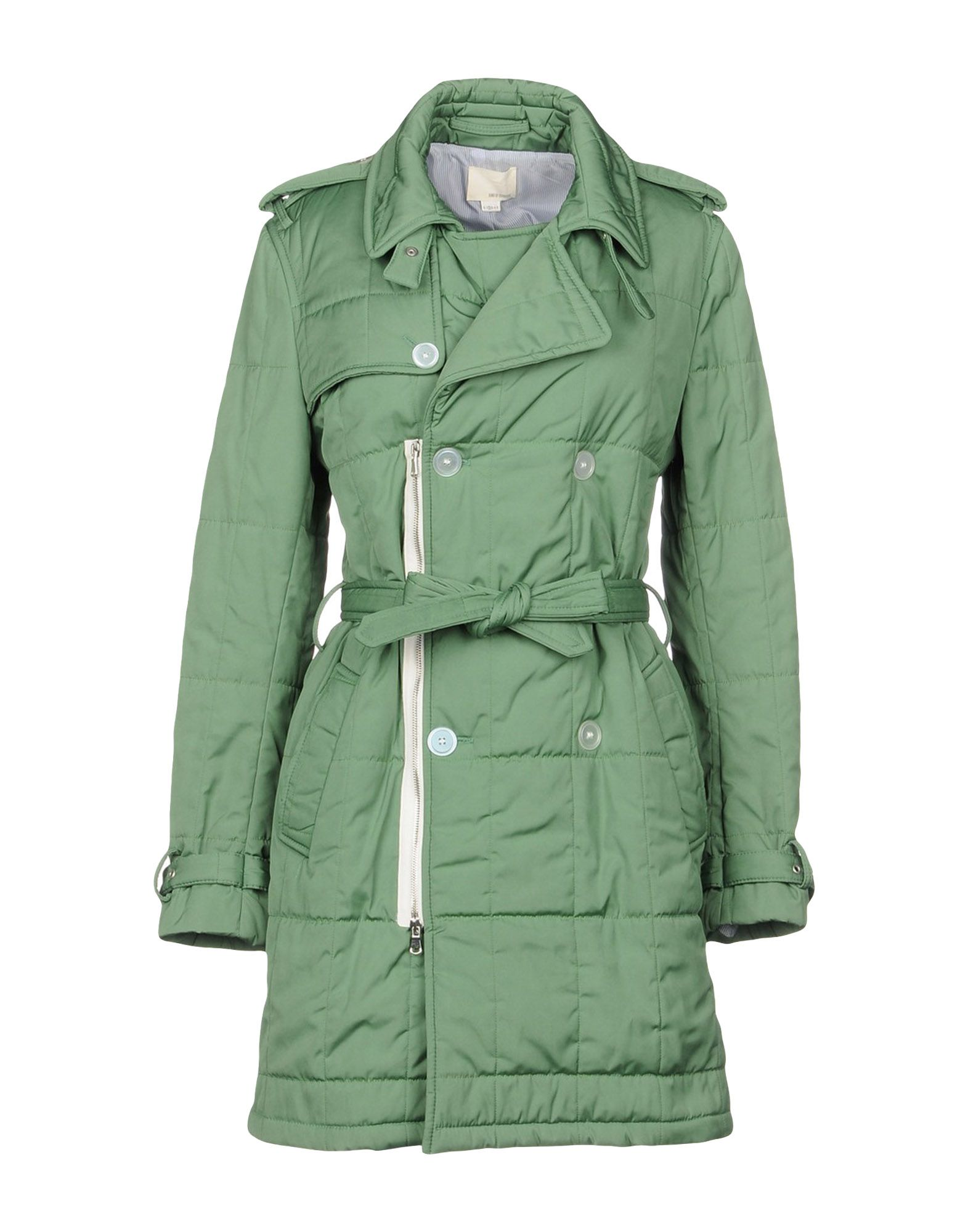 BAND OF OUTSIDERS Double Breasted Pea Coat in Light Green