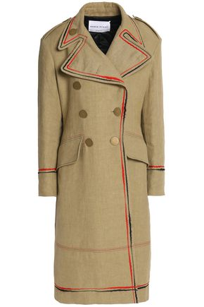 SONIA RYKIEL Double-breasted embroidered linen coat
