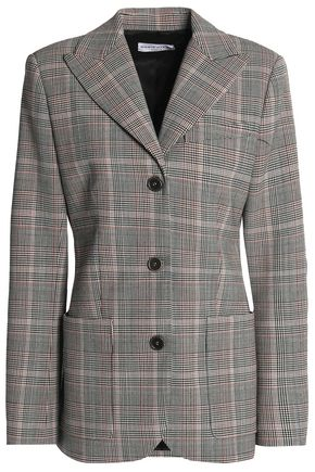SONIA RYKIEL Checked wool-blend blazer
