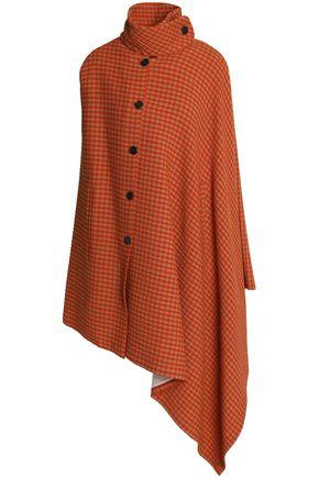 SONIA RYKIEL Asymmetric checked wool-blend cape