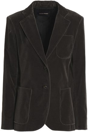 VANESSA SEWARD Cotton-blend velvet blazer