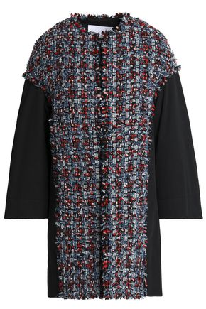 SONIA RYKIEL Bouclé-tweed and cotton-twill coat