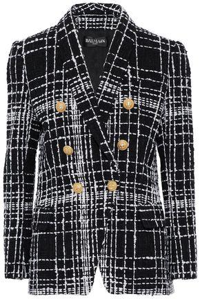 BALMAIN Double-breasted bouclé-tweed jacket