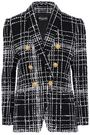 BALMAIN Double-breasted bouclé-tweed jacket