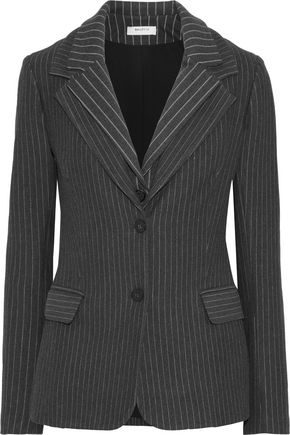 BAILEY 44 Crown Jewel layered pinstriped stretch-knit blazer