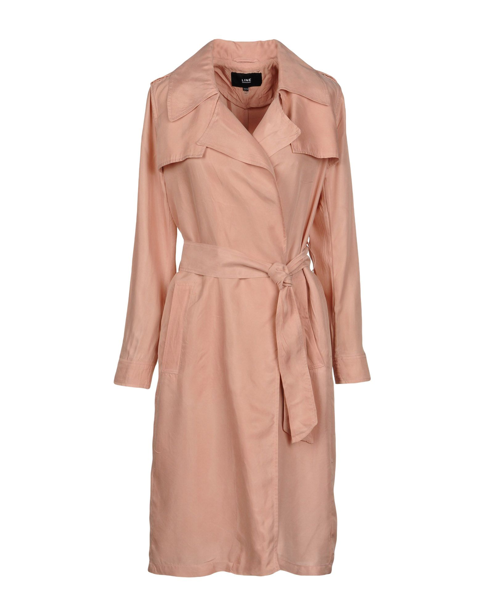LINE Full-Length Jacket in Pale Pink