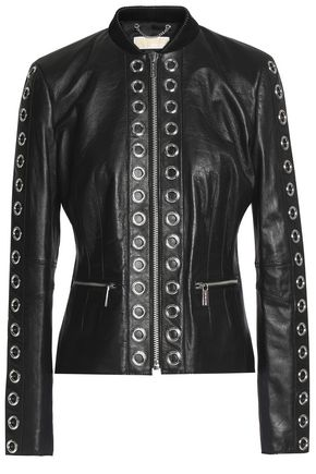 MICHAEL MICHAEL KORS Eyelet-embellished leather jacket