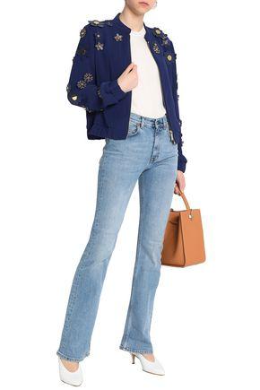 MICHAEL MICHAEL KORS Floral-appliquéd crepe jacket