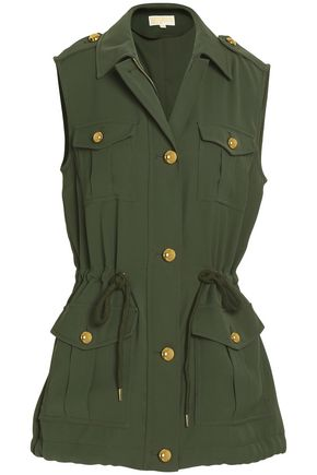 MICHAEL MICHAEL KORS Gathered crepe vest
