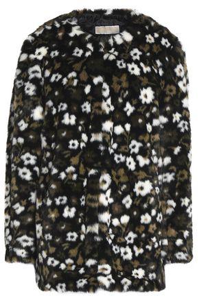 MICHAEL MICHAEL KORS Floral-print faux fur coat