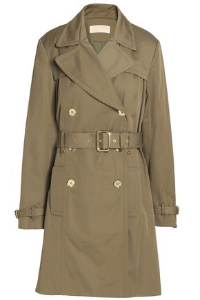 MICHAEL MICHAEL KORS Belted cotton-blend gabardine trench coat