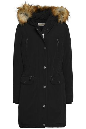 MICHAEL MICHAEL KORS Faux fur-trimmed shell hooded down coat