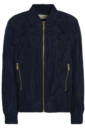 MICHAEL MICHAEL KORS Floral-appliquéd shell bomber jacket
