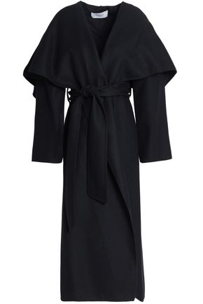 PRINGLE OF SCOTLAND Cape-effect belted wool coat
