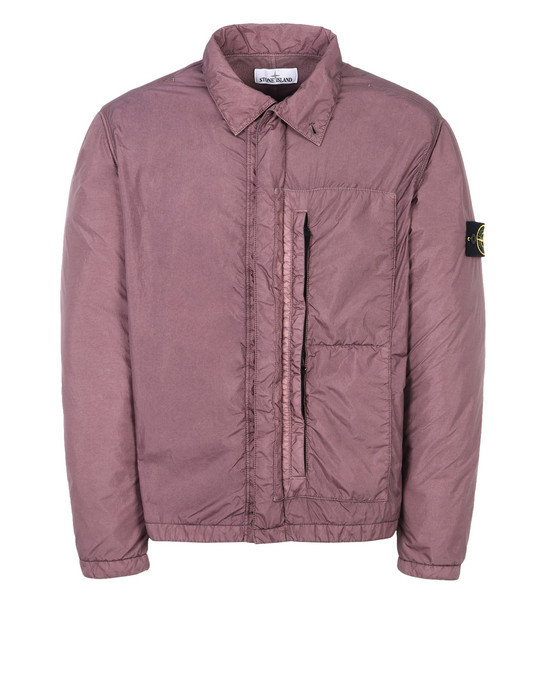 LIGHTWEIGHT JACKET Q1223 GARMENT DYED CRINKLE REPS NY STONE ISLAND - 0