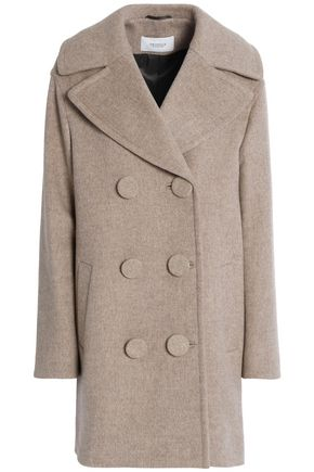 PRINGLE OF SCOTLAND Double-breasted wool and cashmere-blend felt coat