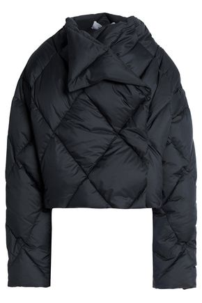 PRINGLE OF SCOTLAND Asymmetric quilted shell down jacket