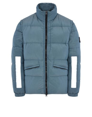 STONE ISLAND Down jacket 43750 COTTON METAL WATRO