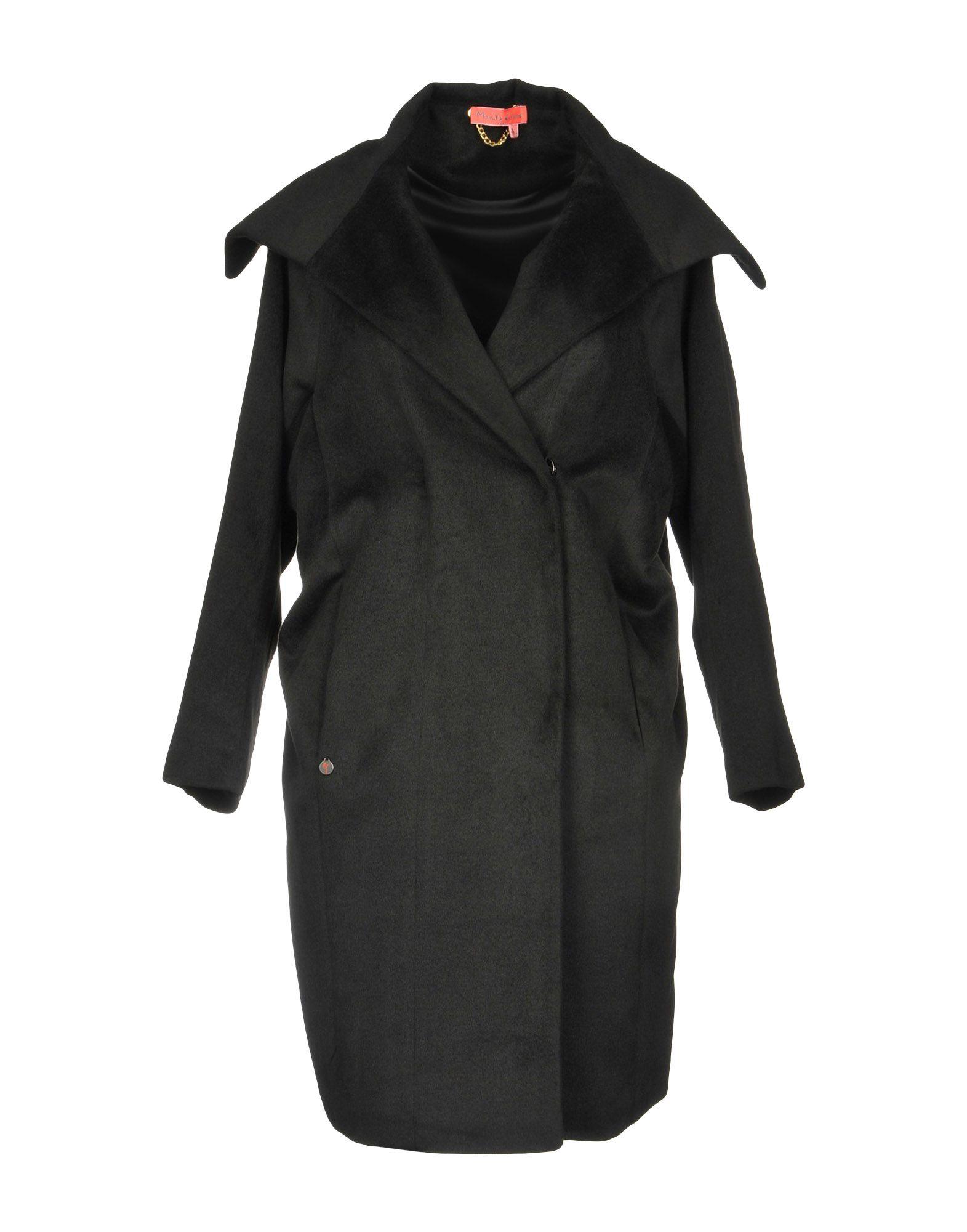 《セール開催中》MANILA GRACE DENIM レディース コート ブラック 42 ポリエステル 100%