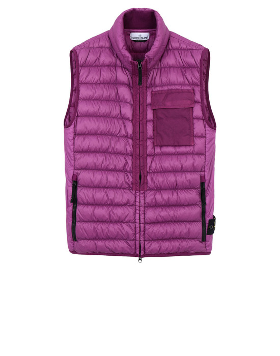 STONE ISLAND Gilet G0424 GARMENT DYED MICRO YARN DOWN_PACKABLE