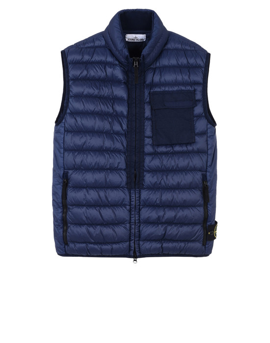 Vest G0424 GARMENT DYED MICRO YARN DOWN_PACKABLE STONE ISLAND - 0