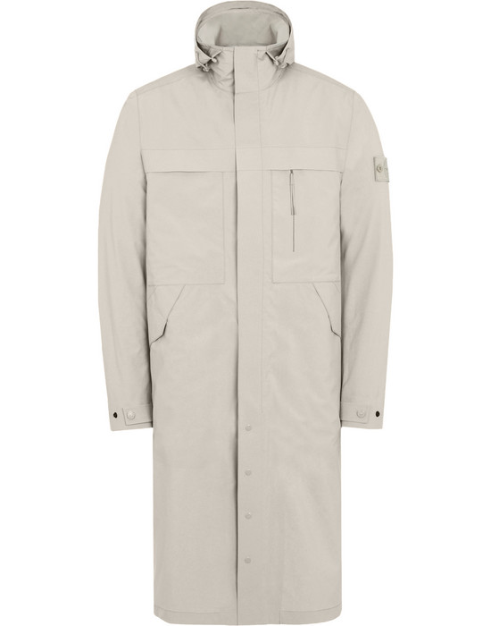 LONG JACKET 705F1 GHOST PIECE_TANK SHIELD FEATURING STRETCH MULTI LAYER FUSION TECHNOLOGY  STONE ISLAND - 0