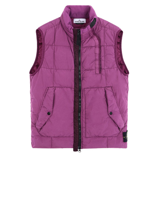 STONE ISLAND Waistcoat G0223 GARMENT-DYED CRINKLE REPS NY DOWN