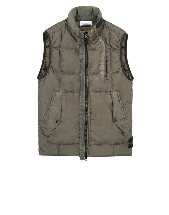 STONE ISLAND Vest G0223 GARMENT-DYED CRINKLE REPS NY DOWN