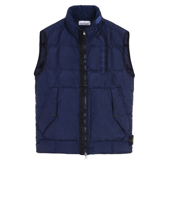Vest G0223 GARMENT-DYED CRINKLE REPS NY DOWN STONE ISLAND - 0