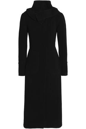 ROLAND MOURET Wool-blend crepe coat