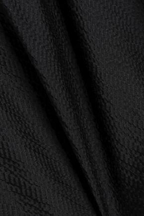 ROLAND MOURET Draped hammered silk-satin cape