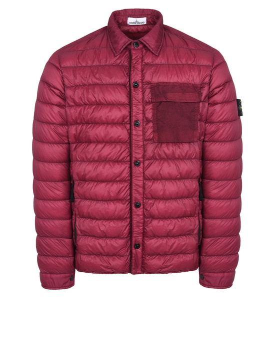 CAPOSPALLA LEGGERO Q0324 GARMENT DYED MICRO YARN DOWN<br>PACKABLE  STONE ISLAND - 0