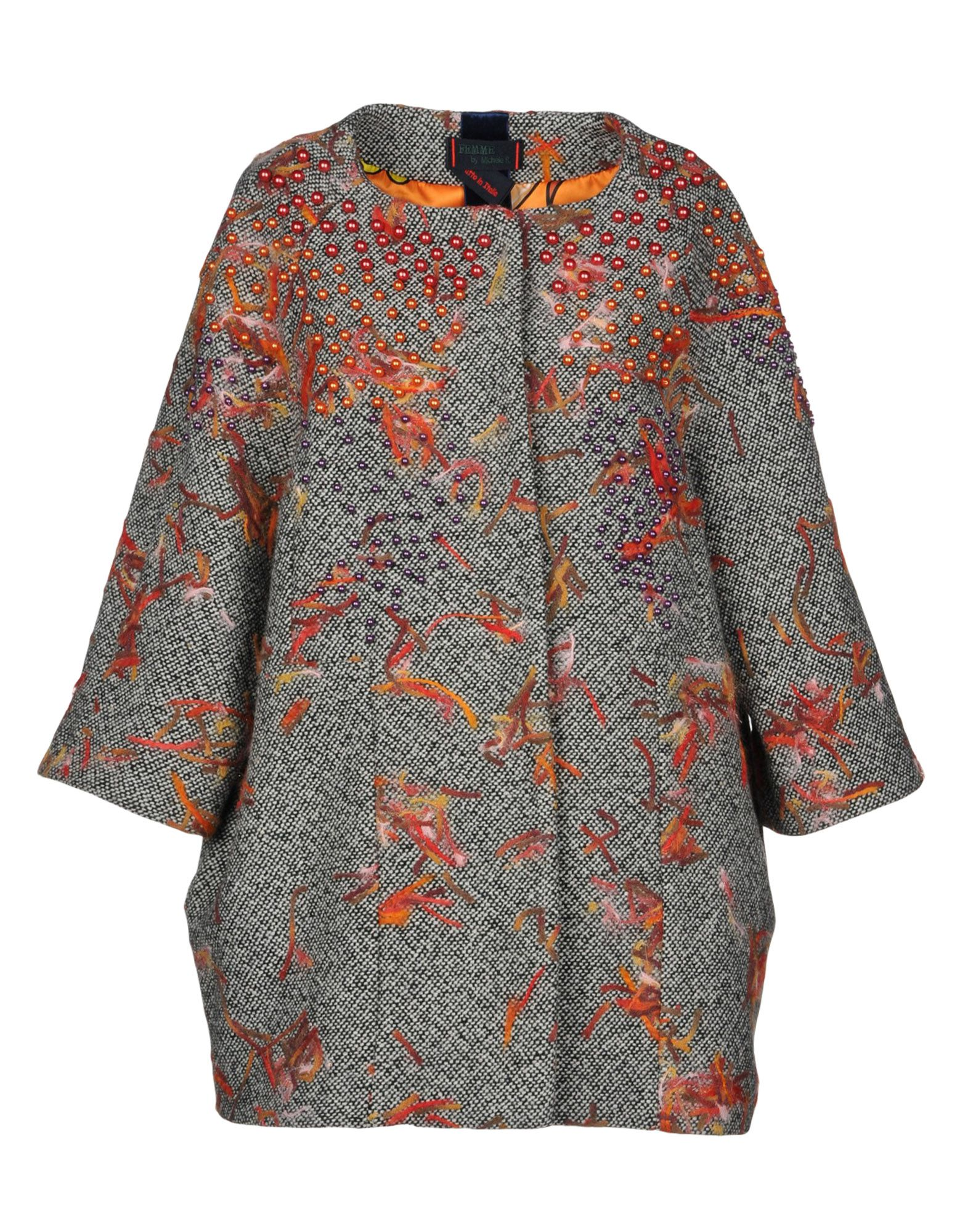 FEMME BY MICHELE ROSSI Coat in Grey