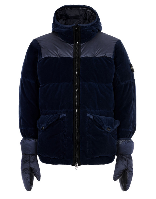 Down jacket 44125 COTTON VELVET DOWN-TC WITH REVERSE LAMY FLOCK STONE ISLAND - 0