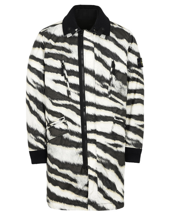 STONE ISLAND CAR COAT 711E1 WHITE TIGER CAMO 50 FILI WITH PRIMALOFT® INSULATION TECHNOLOGY