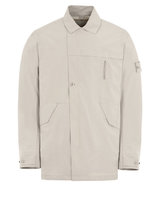 STONE ISLAND Mid-length jacket 419F1 GHOST PIECE_TANK SHIELD FEATURING STRETCH MULTI LAYER FUSION TECHNOLOGY