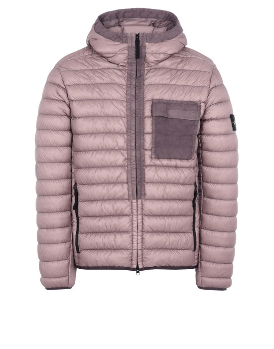 Down jacket 40524 GARMENT-DYED MICRO YARN DOWN STONE ISLAND - 0