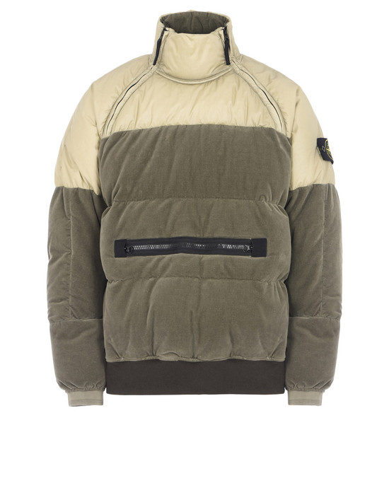 ANORAK 44225 COTTON VELVET DOWN-TC WITH REVERSE LAMY FLOCK  STONE ISLAND - 0