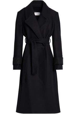 CHALAYAN Belted brushed wool-blend coat